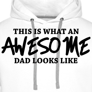 This is what an awesome dad looks like Långärmade T-shirts - Premiumluvtröja herr