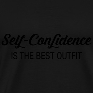 Self-Confidence Is The Best Outfit Topper - Premium T-skjorte for menn