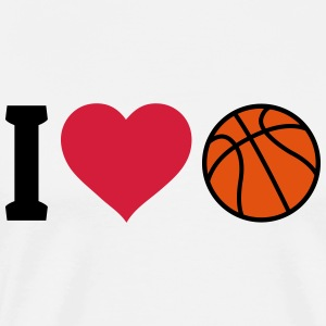 I love Basketball Tops - Men's Premium T-Shirt