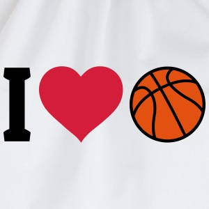 I love Basketball ik hou van basketbal Shirts - Gymtas
