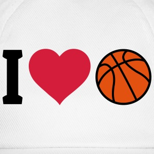 I love Basketball ik hou van basketbal Shirts - Baseballcap