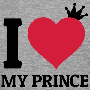 I love my Prince j'adore mon prince Sweat-shirts - T-shirt manches longues Premium Homme