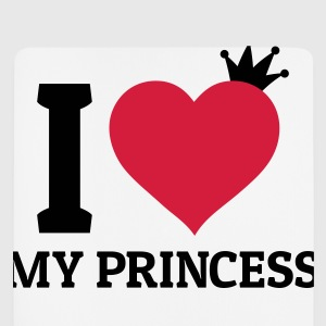 I love my Princess Pullover & Hoodies - Mousepad (Hochformat)