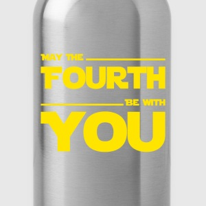 May The Fourth Be With You - Dark Geek Shirt - Trinkflasche