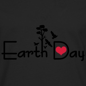 Earth day typo Women's T-shirt with rolled up sl - Men's Premium Longsleeve Shirt