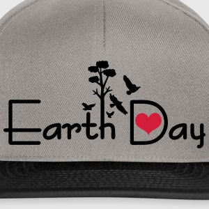 Earth day typo Women's T-shirt with rolled up sl - Snapback Cap
