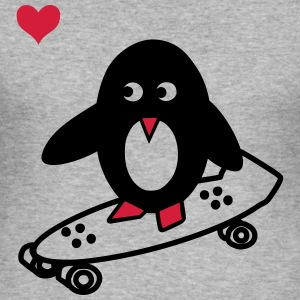 Skaterpinguin Hoodie - Männer Slim Fit T-Shirt
