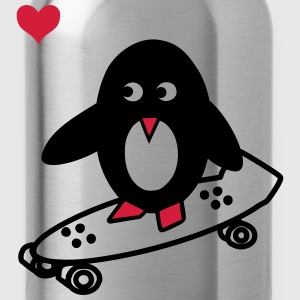 Skaterpinguin Shirt - Trinkflasche