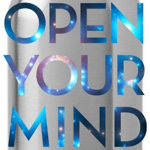 OPEN YOUR MIND, Galaxy, Universe, Meditation T-Shirts - Water Bottle