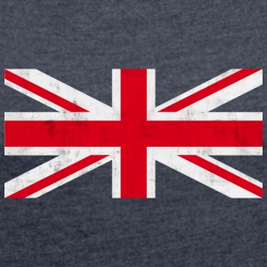 Vintage flag britain Hoodies & Sweatshirts - Women's T-shirt with rolled up sleeves