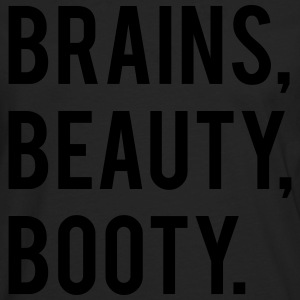 BRAINS BEAUTY BOOTY - Men's Premium Longsleeve Shirt