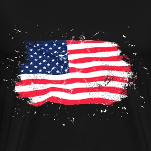 USA Flag - Vintage Look Hoodies & Sweatshirts - Men's Premium T-Shirt