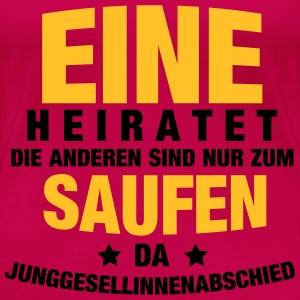 Eine heiratet... Tops - Frauen Premium T-Shirt