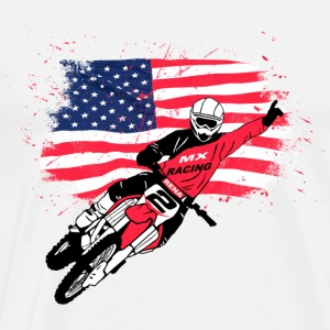 Moto Cross - USA Forklær - Premium T-skjorte for menn