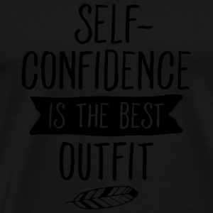 Self-Confidence Is The Best Outfit Tanktoppar - Premium-T-shirt herr