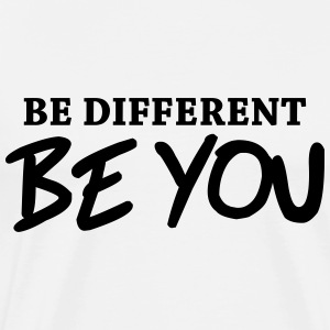 Be different - Be YOU! Skjorter med lange armer - Premium T-skjorte for menn