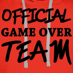 Official game over team T-skjorter - Premium hettegenser for menn