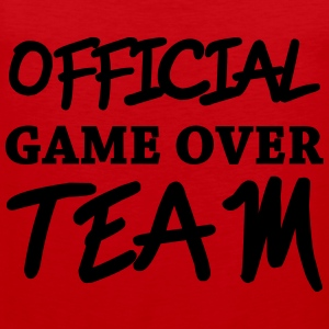 Official game over team Magliette - Canotta premium da uomo