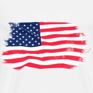 USA Flag - Vintage Look Gensere - Premium T-skjorte for menn