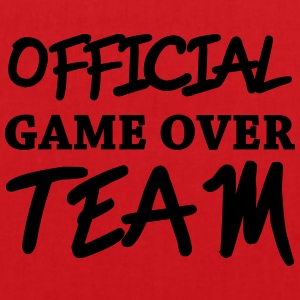 Official game over team Magliette - Borsa di stoffa