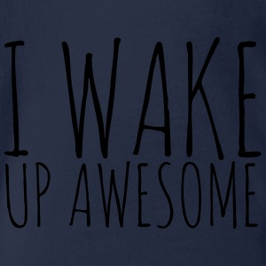 I Wake Up Awesome - KOLESON COUTURE - Organic Short-sleeved Baby Bodysuit