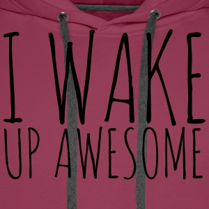 I Wake Up Awesome - KOLESON COUTURE - Men's Premium Hoodie