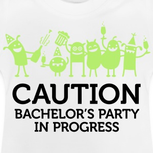 Attention: Bachelor party en cours Manches longues - T-shirt Bébé