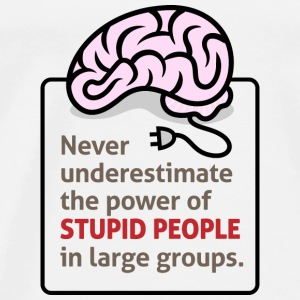 Never underestimate the power of stupid people Shirts - Men's Premium T-Shirt