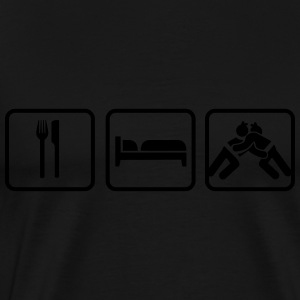 Eat Sleep Sumo, Eat Sleep Sumo Wrestling Langarmshirts - Männer Premium T-Shirt