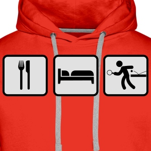Eat Sleep Tischtennis, Eat Sleep Ping Pong Shirts - Men's Premium Hoodie