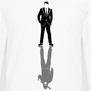 Suits vs Bat T-shirts - Mannen Premium shirt met lange mouwen