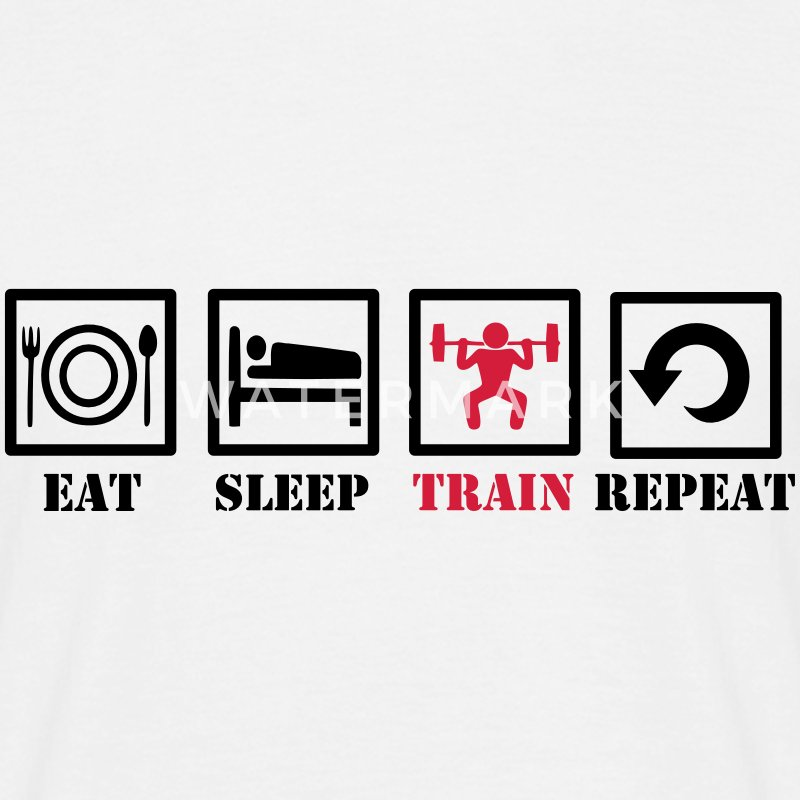 Eat Sleep Train Repeat T-Shirts - Männer T-Shirt