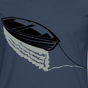 Boat on lake T-Shirts - Men's Premium Longsleeve Shirt