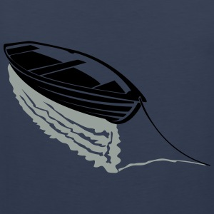 Boat on lake T-Shirts - Men's Premium Tank Top