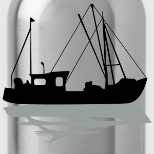 Trawler vs. Yacht T-Shirts - Water Bottle