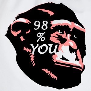 98 % You - Chimp T-Shirts - Turnbeutel