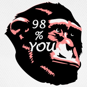 98 % You - Chimp T-Shirts - Baseballkappe