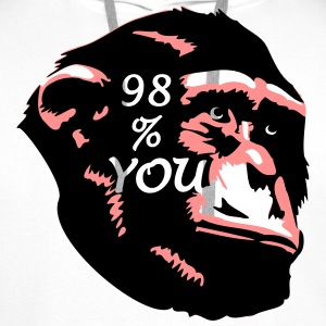 98 % You - Chimp T-Shirts - Männer Premium Hoodie