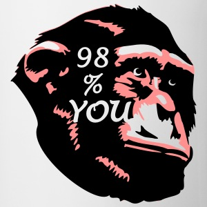 98 % You - Chimp T-Shirts - Tasse