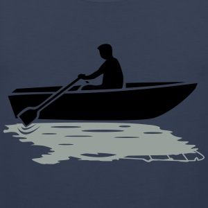Båd vs. Powerboat T-shirts - Herre Premium tanktop