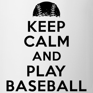 Keep calm and play baseball T-shirts - Mugg
