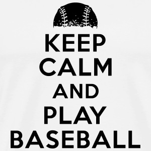 Keep calm and play baseball Tanktops - Mannen Premium T-shirt