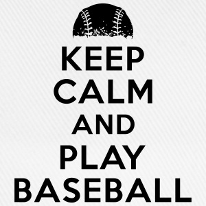 Keep calm and play baseball Tee shirts - Casquette classique