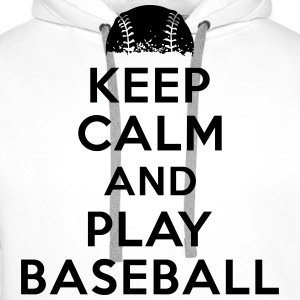 Keep calm and play baseball Tee shirts - Sweat-shirt à capuche Premium pour hommes
