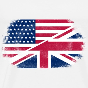 USA - Union Jack Flag Gensere - Premium T-skjorte for menn