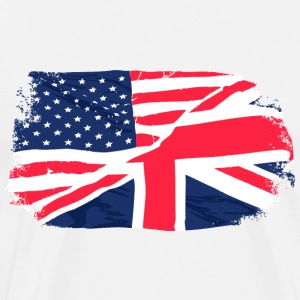 USA - Union Jack Flag Forklær - Premium T-skjorte for menn
