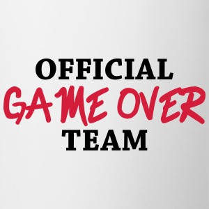 Official game over team Magliette - Tazza