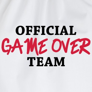 Official game over team Camisetas - Mochila saco