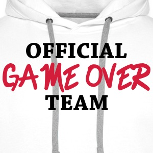 Official game over team Magliette - Felpa con cappuccio premium da uomo
