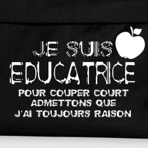Je suis educatrice Sweat-shirts - Sac à dos Enfant